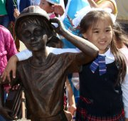 В столице Тувы появился памятник юному шахтеру