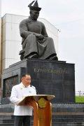 В Кызыле состоялся митинг, посвящённый памяти основателя тувинской государственности Монгушу Буяну-Бадыргы